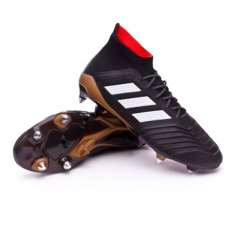 Chuteira  adidas Predator 18.1 SG Core black-White-Gold metallic-Solar red