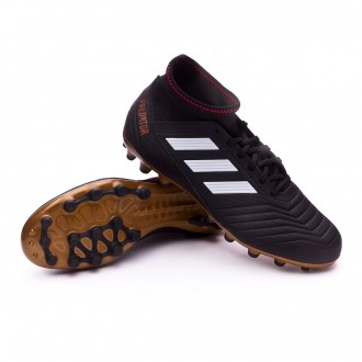 Chuteira  adidas Predator 18.3 AG Core black-White-Gold metallic-Solar red