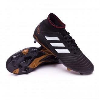Chaussure  adidas Predator 18.3 FG Core black-White-Gold metallic-Solar red