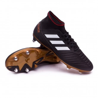 Chuteira  adidas Predator 18.3 SG Core black-Solar red-Gold metallic