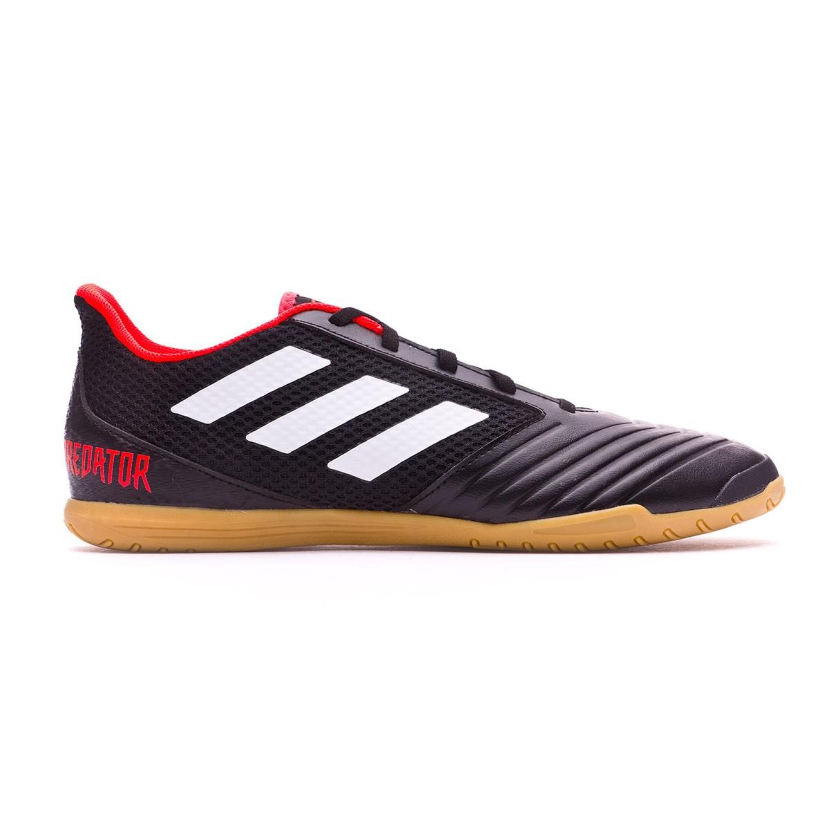 7b3ba991e5348 Futsal Boot adidas Predator Tango 18.4 Sala White-Core black-Real coral -  Football store Fútbol Emotion