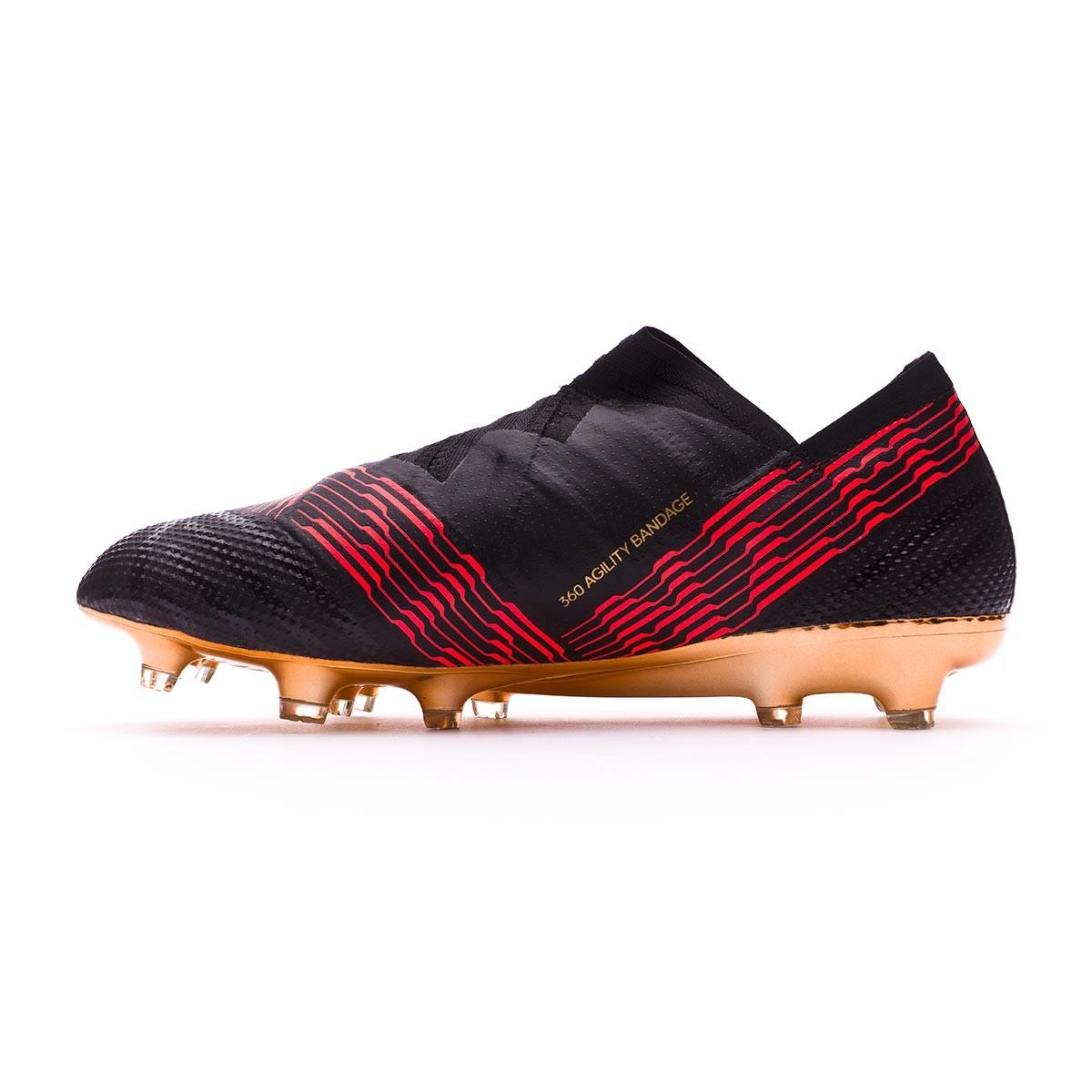 a209e1236 Football Boots adidas Nemeziz 17+ 360 Agility FG Core black-Solar red -  Football store Fútbol Emotion