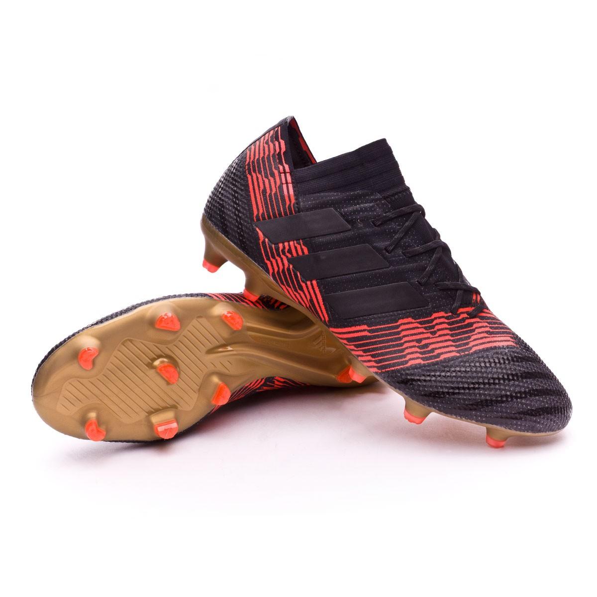 52b5b8ead Football Boots adidas Nemeziz 17.1 FG Core black-Solar red ...
