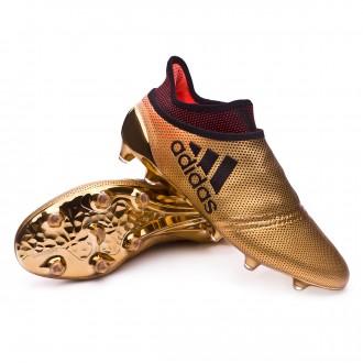 Bota  adidas X 17+ Purespeed FG Tactile gold metallic-Core black-Solar red