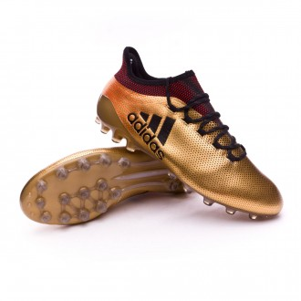 Chuteira  adidas X 17.1 AG Tactile gold metallic-Core black-Solar red