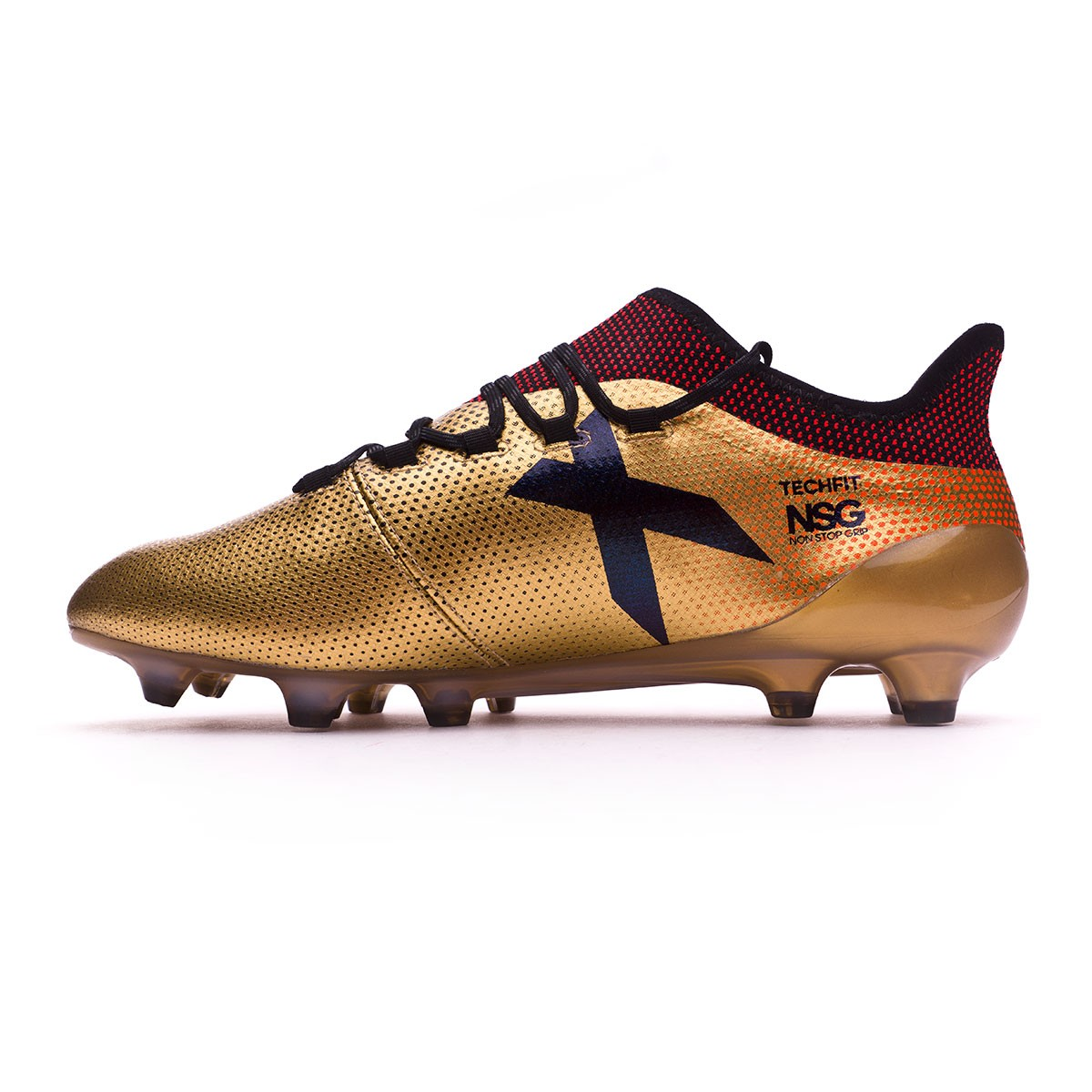 2c082669d140 Football Boots adidas X 17.1 FG Tactile gold metallic-Core black-Solar red  - Tienda de fútbol Fútbol Emotion