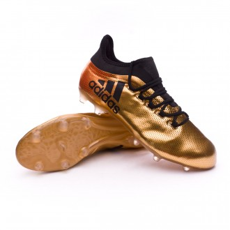 Chaussure  adidas X 17.2 FG Tactile gold metallic-Core black-Solar red