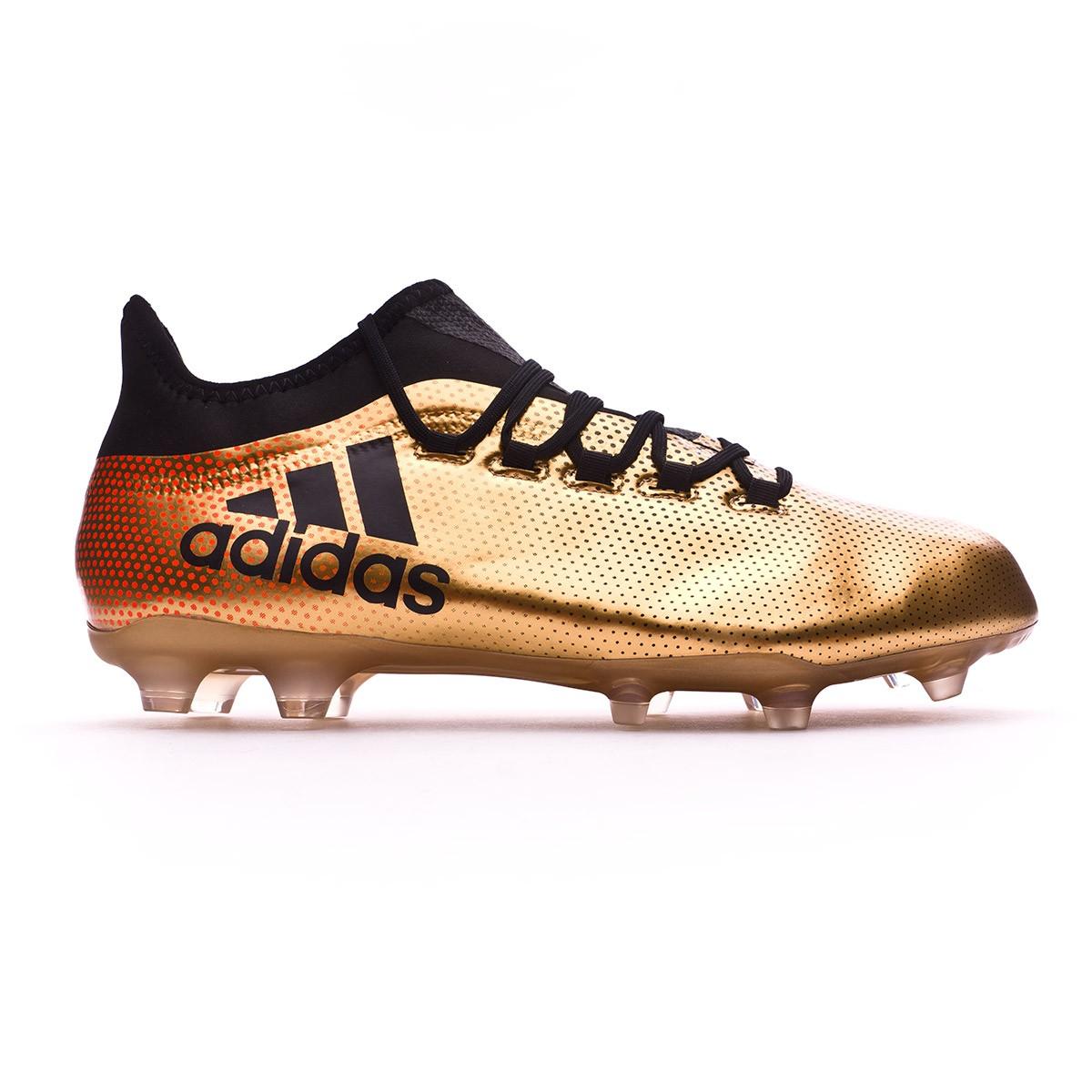 f9471e9ae Football Boots adidas X 17.2 FG Tactile gold metallic-Core black-Solar red  - Football store Fútbol Emotion