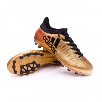 Chuteira  adidas X 17.3 AG Tactile gold metallic-Core black-Solar red