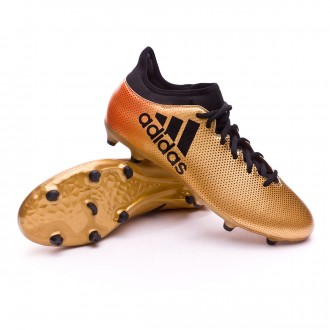 Chaussure  adidas X 17.3 FG Tactile gold metallic-Core black-Solar red