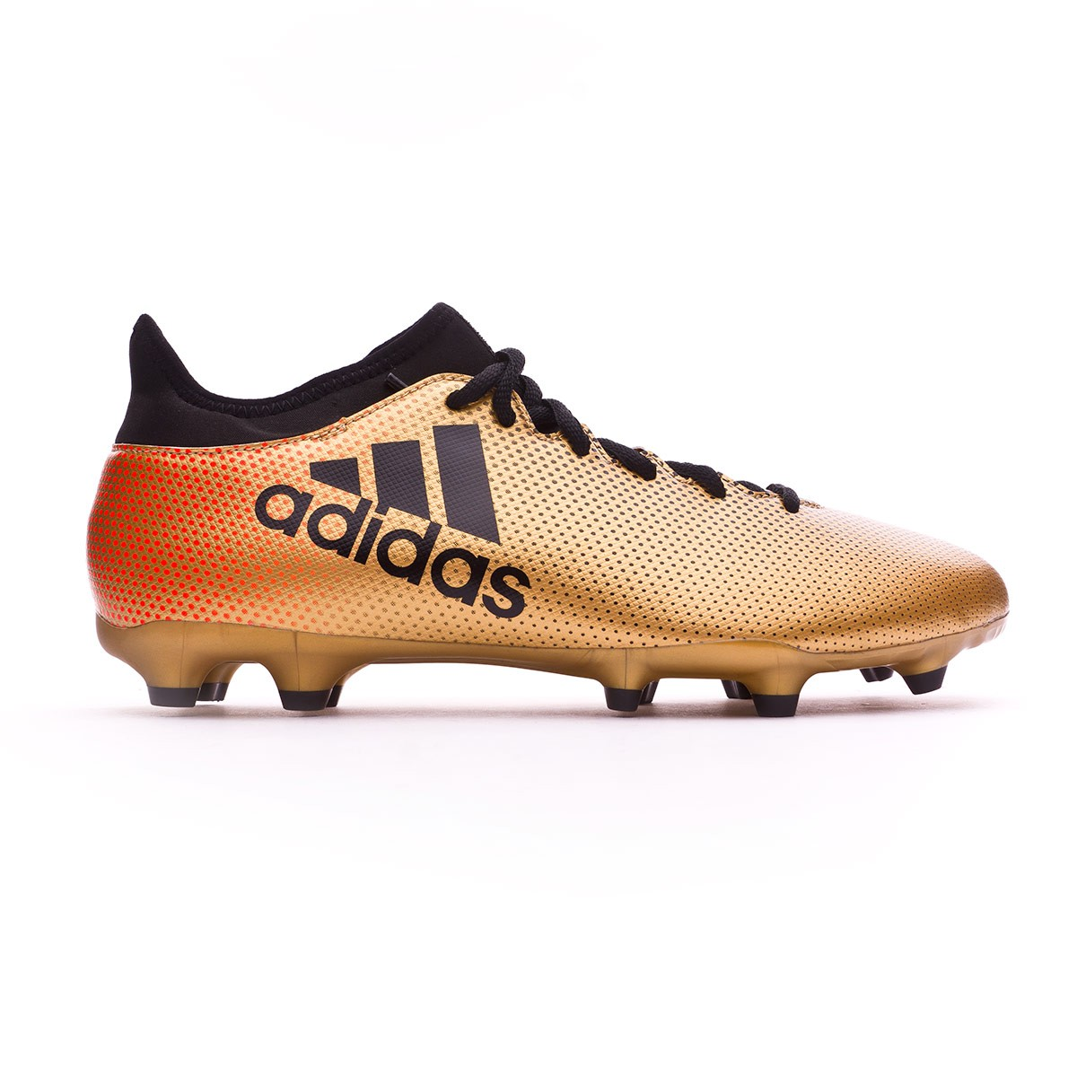 a1236423910 Football Boots adidas X 17.3 FG Tactile gold metallic-Core black-Solar red  - Football store Fútbol Emotion