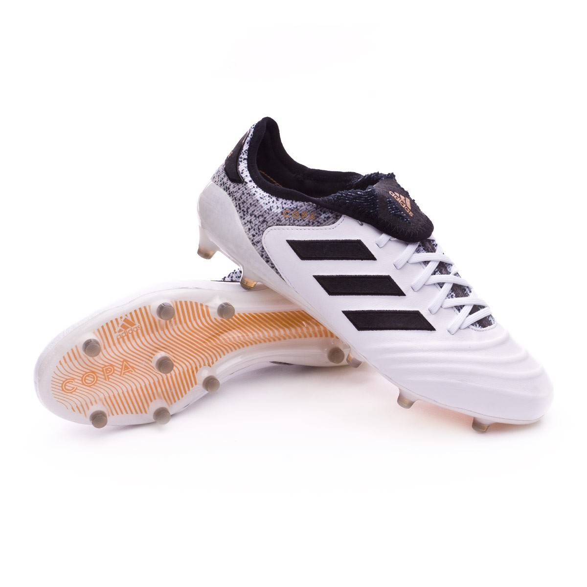 5658965bf98 Football Boots adidas Copa 18.1 FG White-Core black-Tactile gold ...