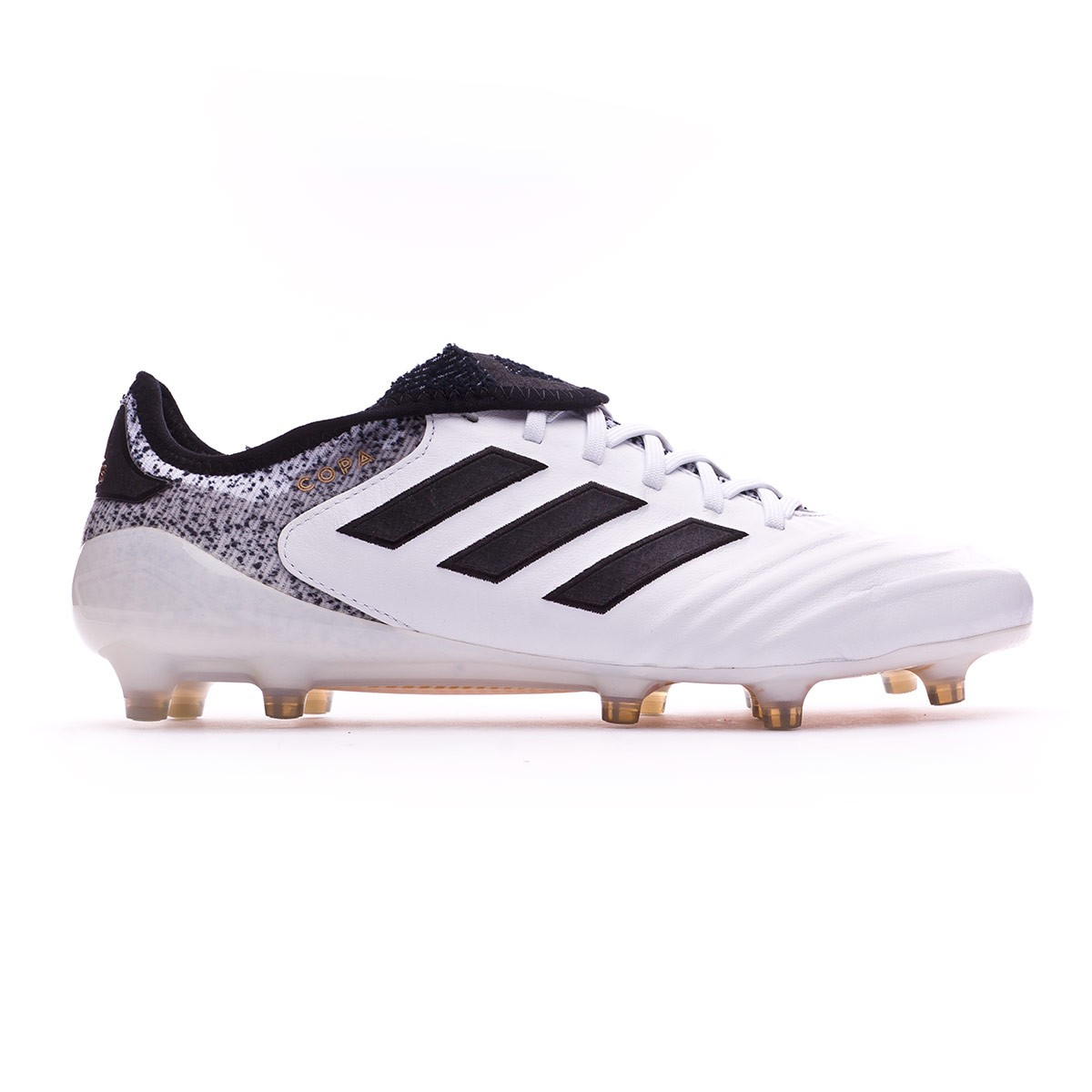 sale retailer 40566 2c3ae Football Boots adidas Copa 18.1 FG White-Core black-Tactile gold metallic -  Football store Fútbol Emotion