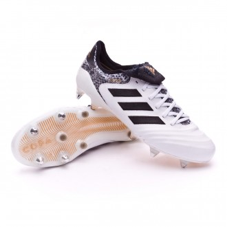 Chuteira  adidas Copa 18.1 SG White-Core black-Tactile gold metallic
