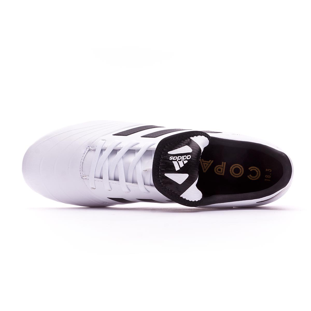 43d068c76 Football Boots adidas Copa 18.3 FG White-Core black-Tactile gold metallic -  Football store Fútbol Emotion