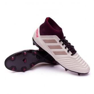 Boot  adidas Woman Predator 18.3 FG Talc-Vapour grey metallic-Maroon