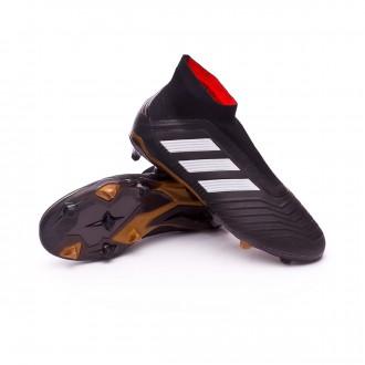 Bota  adidas Predator 18+ FG Niño Core black-White-Gold metallic-Solar red