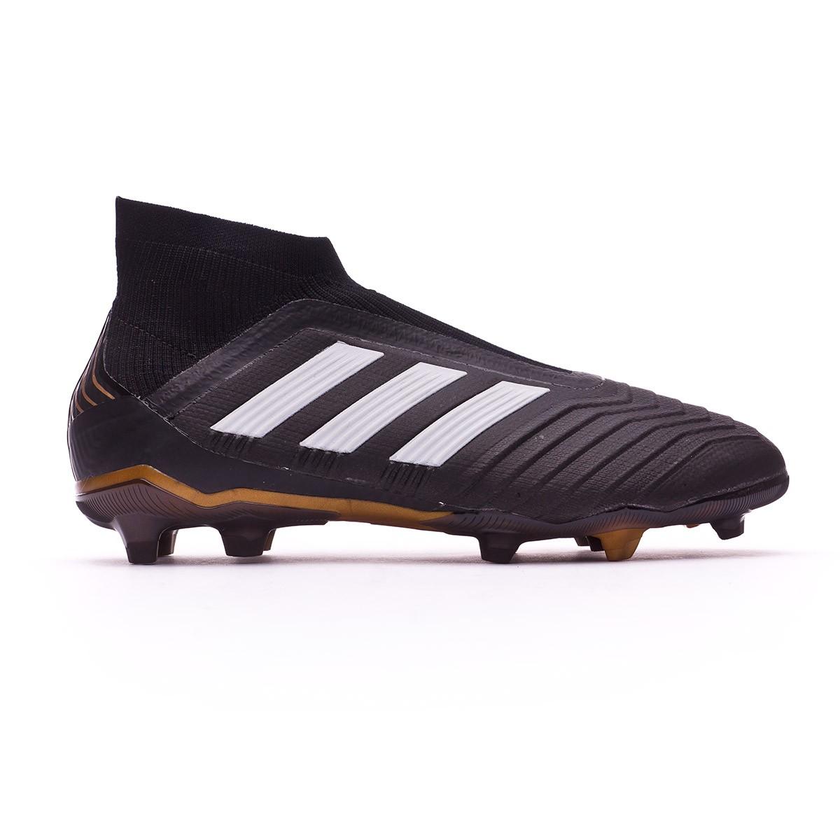 2f3240bf7ff59 Zapatos de fútbol adidas Predator 18+ FG Niño Core black-White-Gold  metallic-Solar red - Tienda de fútbol Fútbol Emotion