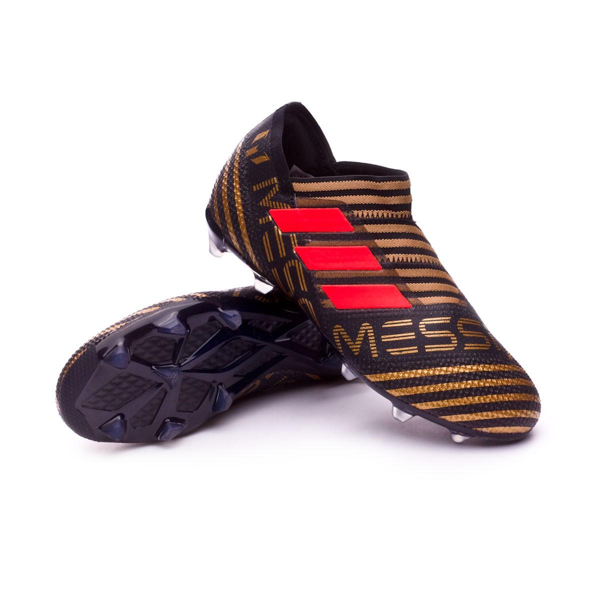 356fccb14 adidas Kids Nemeziz Messi 17+ 360 Agility Football Boots. Core black-Solar  red-Tactile ...
