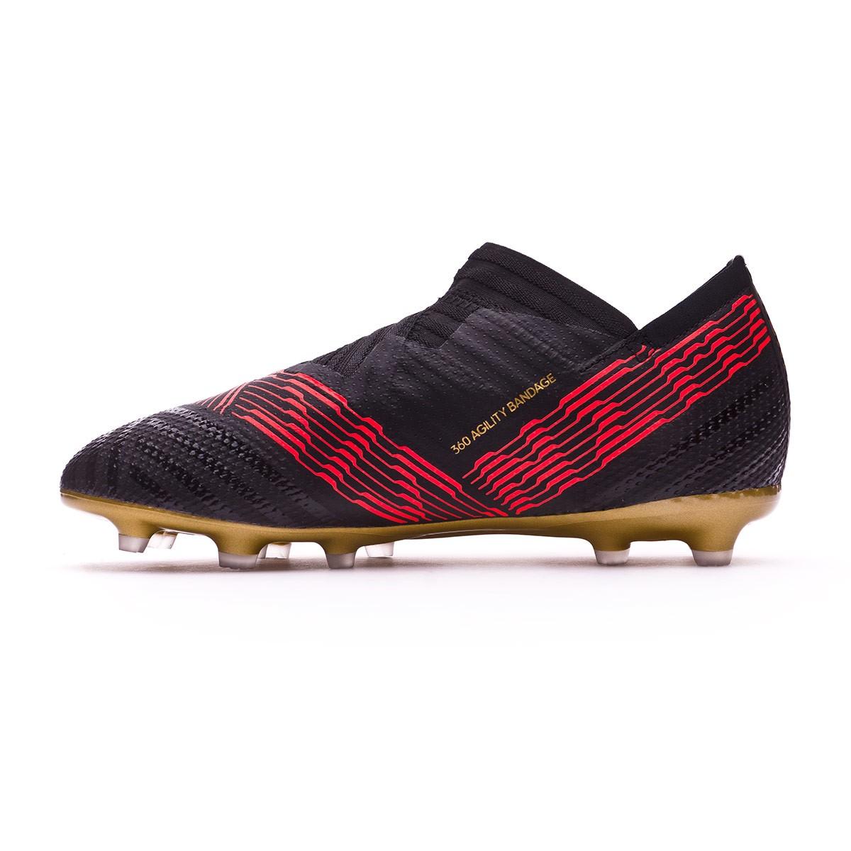 6fd1b268c Football Boots adidas Kids Nemeziz 17+ 360 Agility FG Core black-Solar red  - Football store Fútbol Emotion