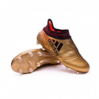 X 17+ Purespeed FG Niño Tactile gold metallic-Core black-Solar red