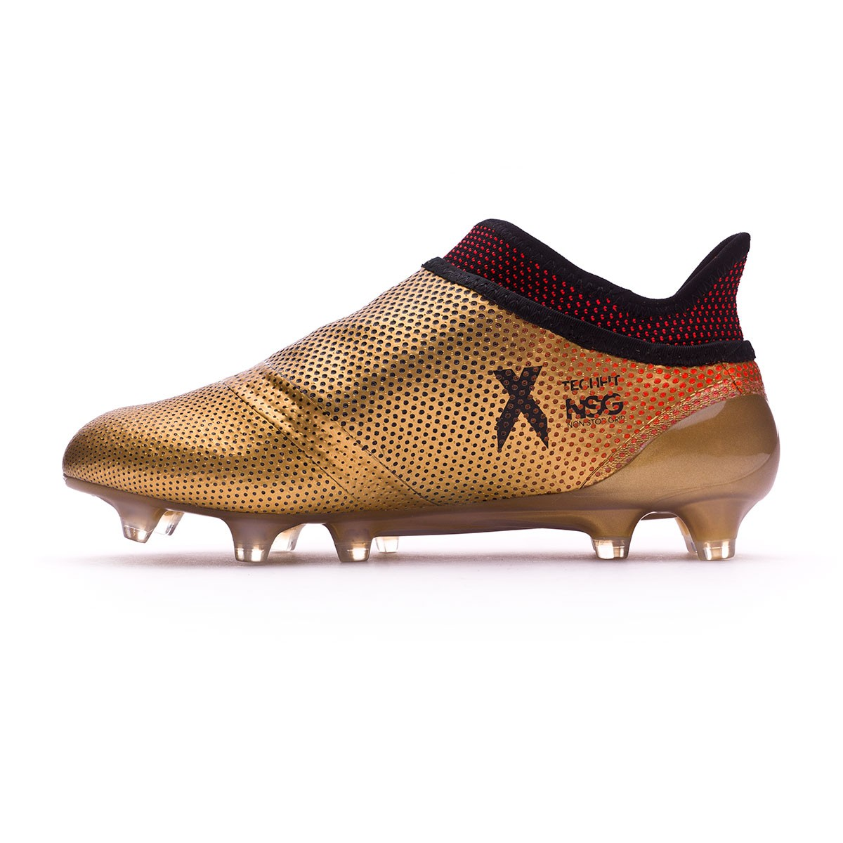 bd912168e3c Football Boots adidas X 17+ Purespeed FG Kids Tactile gold metallic-Core  black-Solar red - Football store Fútbol Emotion