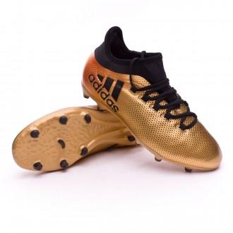 Bota  adidas X 17.1 FG Niño Tactile gold metallic-Core black-Solar red