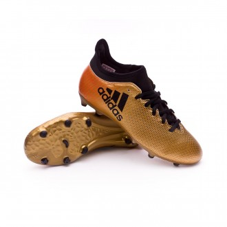 Zapatilla X Tango 17.3 Turf Tactile gold metallic Core black Solar red