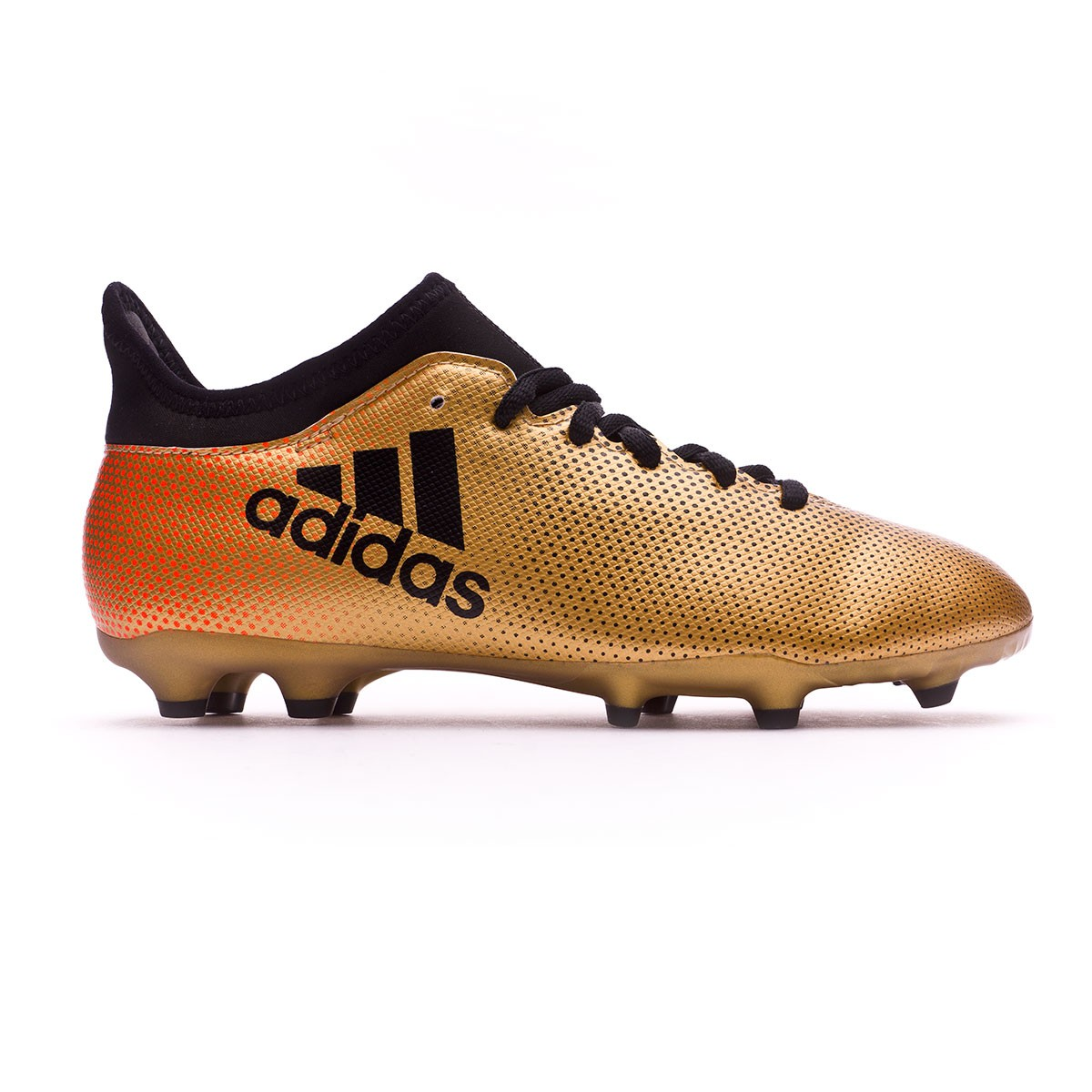 66e9a9e1b80b Football Boots adidas Kids X 17.3 FG Tactile gold metallic-Core black-Solar  red - Football store Fútbol Emotion
