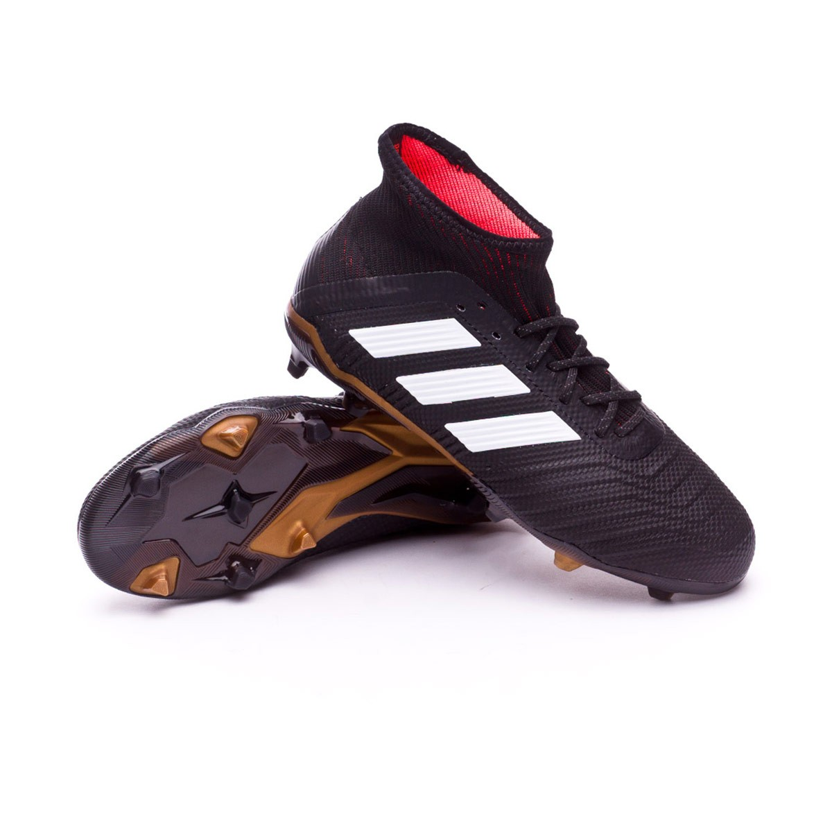 8de09e02d7cf Football Boots adidas Kids Predator 18.1 FG Core black-White-Gold ...