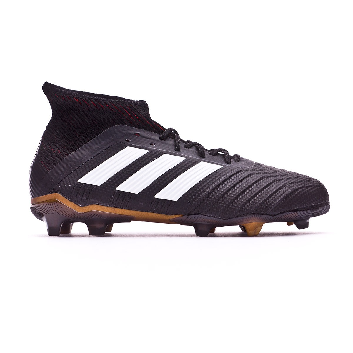 f63f4c5d94a Football Boots adidas Kids Predator 18.1 FG Core black-White-Gold metallic-Solar  red - Football store Fútbol Emotion