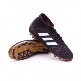 Chuteira  adidas Predator 18.3 AG Criança Core black-White-Gold metallic-Solar red