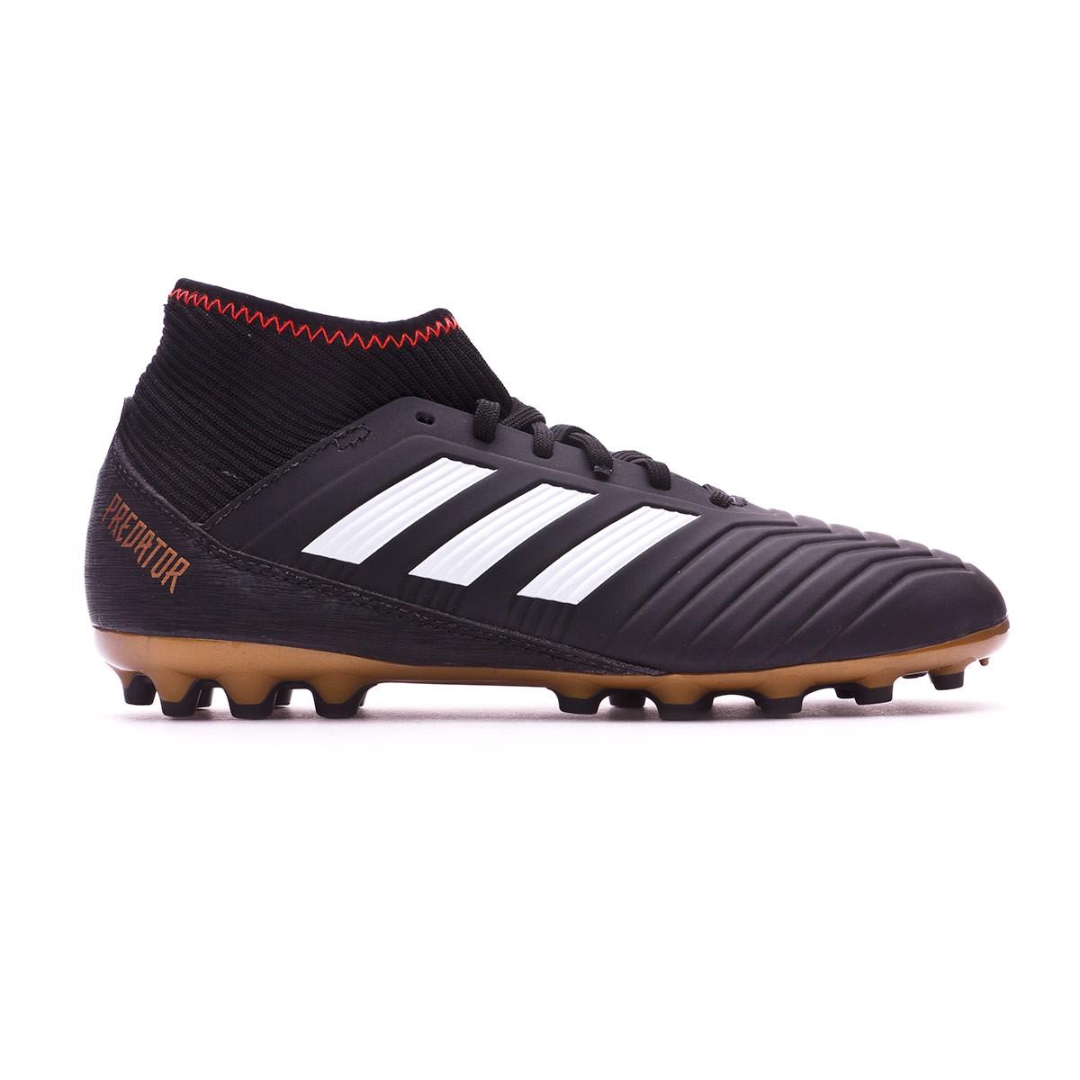 91a8db80e966 Football Boots adidas Kids Predator 18.3 AG Core black-White-Gold  metallic-Solar red - Tienda de fútbol Fútbol Emotion