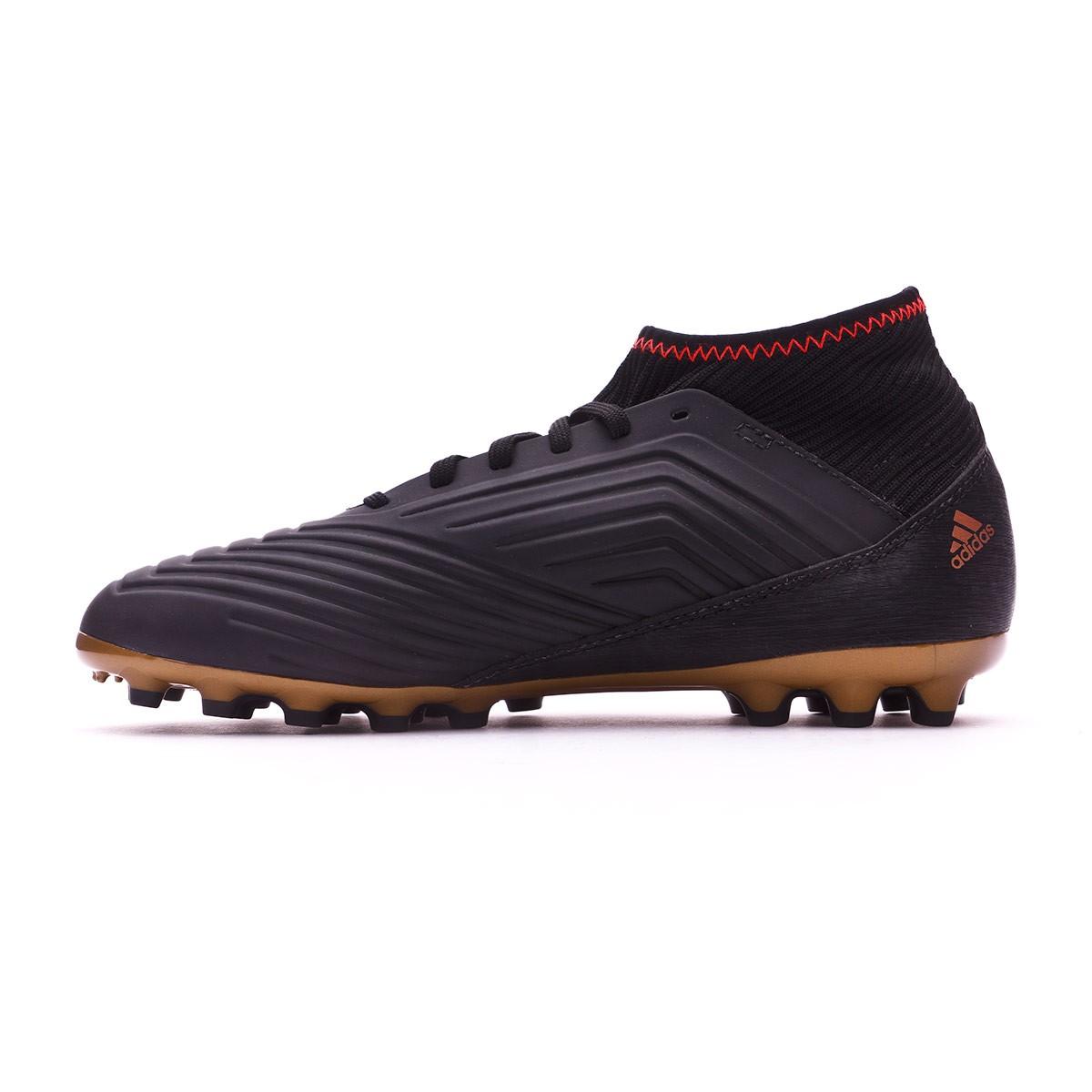 cdfeb334044 Football Boots adidas Kids Predator 18.3 AG Core black-White-Gold  metallic-Solar red - Tienda de fútbol Fútbol Emotion
