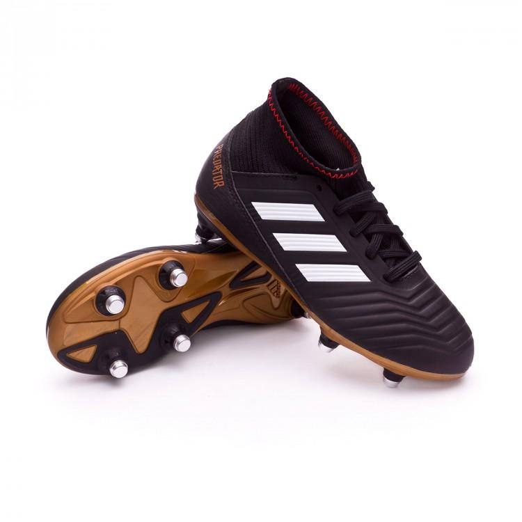 58aff090c44d Football Boots adidas Kids Predator 18.3 SG Core black-White-Gold ...