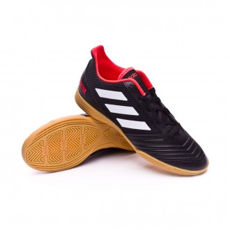 Zapatilla  adidas Predator Tango 18.4 IN Niño White-Core black-Real coral