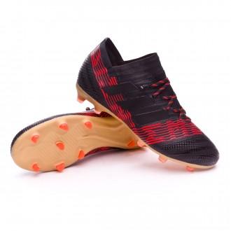 Bota  adidas Nemeziz 17.1 FG Niño Core black-Solar red