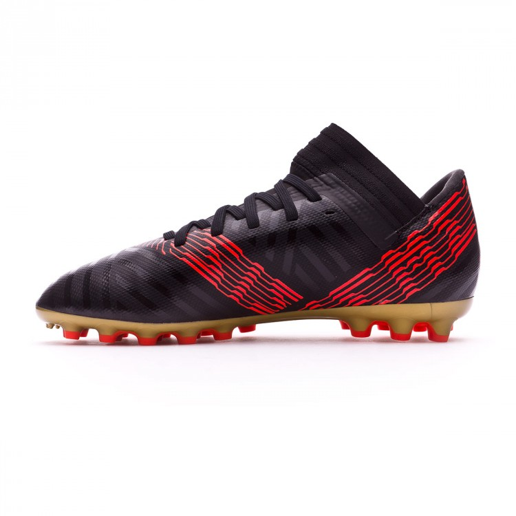 dbdddba94ef7 Boot adidas Kids Nemeziz 17.3 AG Core black-Solar red - Leaked soccer