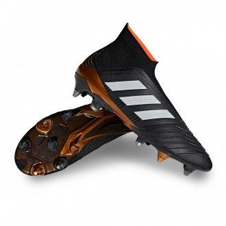 Chuteira  adidas Predator 18+ SG Core black-Solar red-Gold metallic