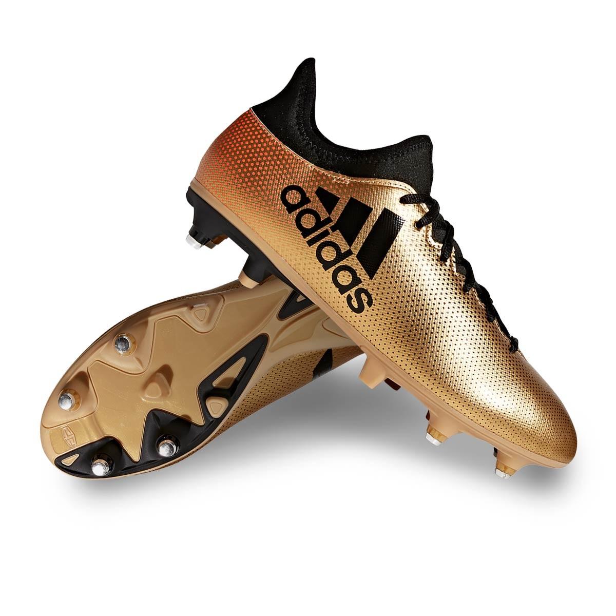 8b69b5fb12e3 adidas X 17.3 SG Football Boots. Tactile gold metallic-Core black-Solar red  ...