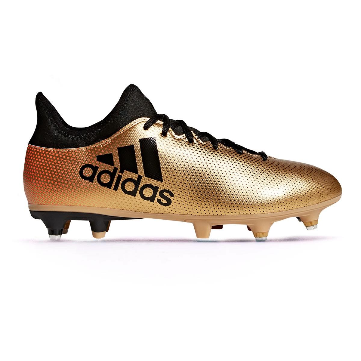 wholesale dealer b798e 7b8d2 Chaussure de foot adidas X 17.3 SG Tactile gold metallic-Core black-Solar  red - Boutique de football Fútbol Emotion