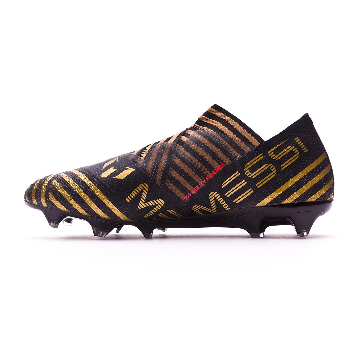 ca1ff4d0ffab Football Boots adidas Nemeziz Messi 17+ 360 Agility FG Core black-Solar  red-Tactile gold metallic - Football store Fútbol Emotion
