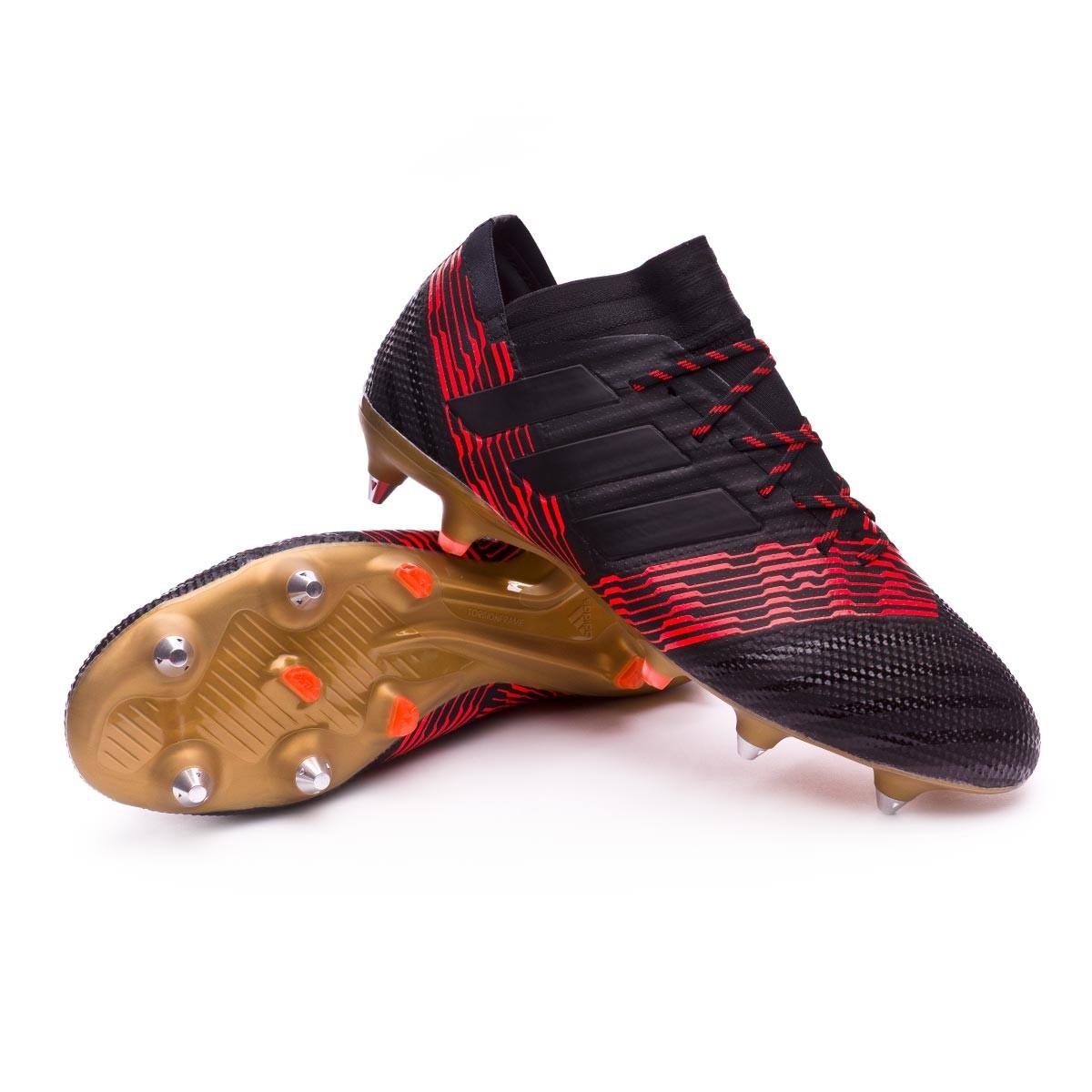 db0e221bb Football Boots adidas Nemeziz 17.1 SG Core black-Solar red - Football store  Fútbol Emotion