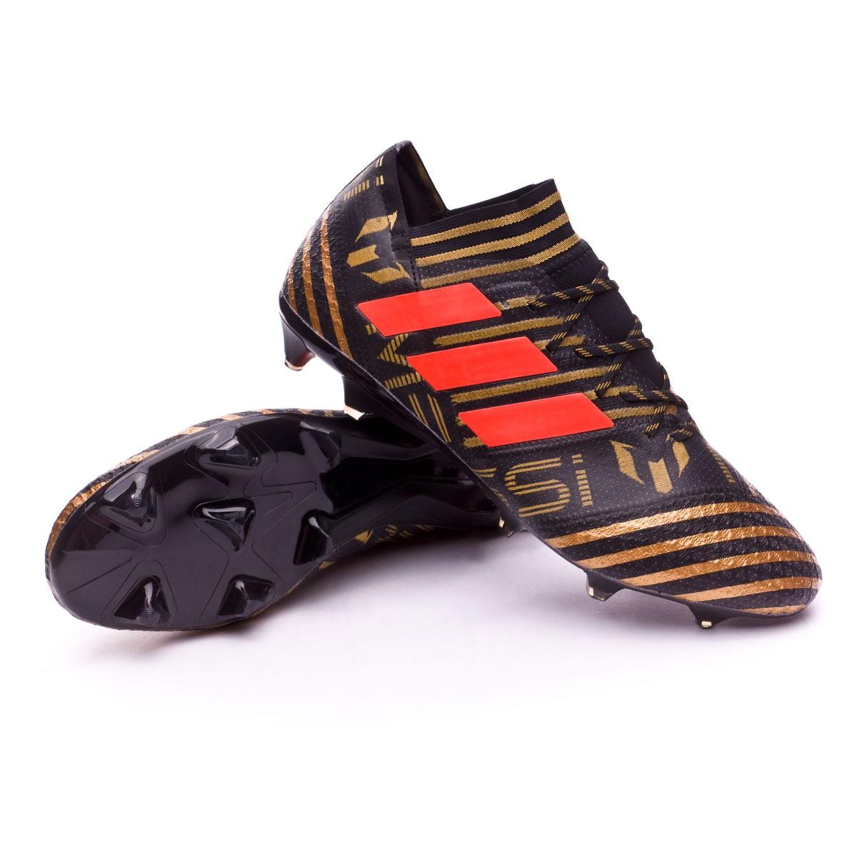 9a96afef6ac9 Football Boots adidas Nemeziz Messi 17.1 FG Core black-Solar red ...