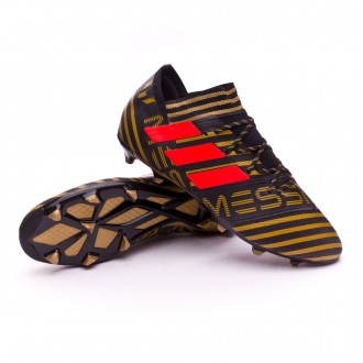 Bota  adidas Nemeziz Messi 17.2 FG Core black-Solar red-Tactile gold metallic