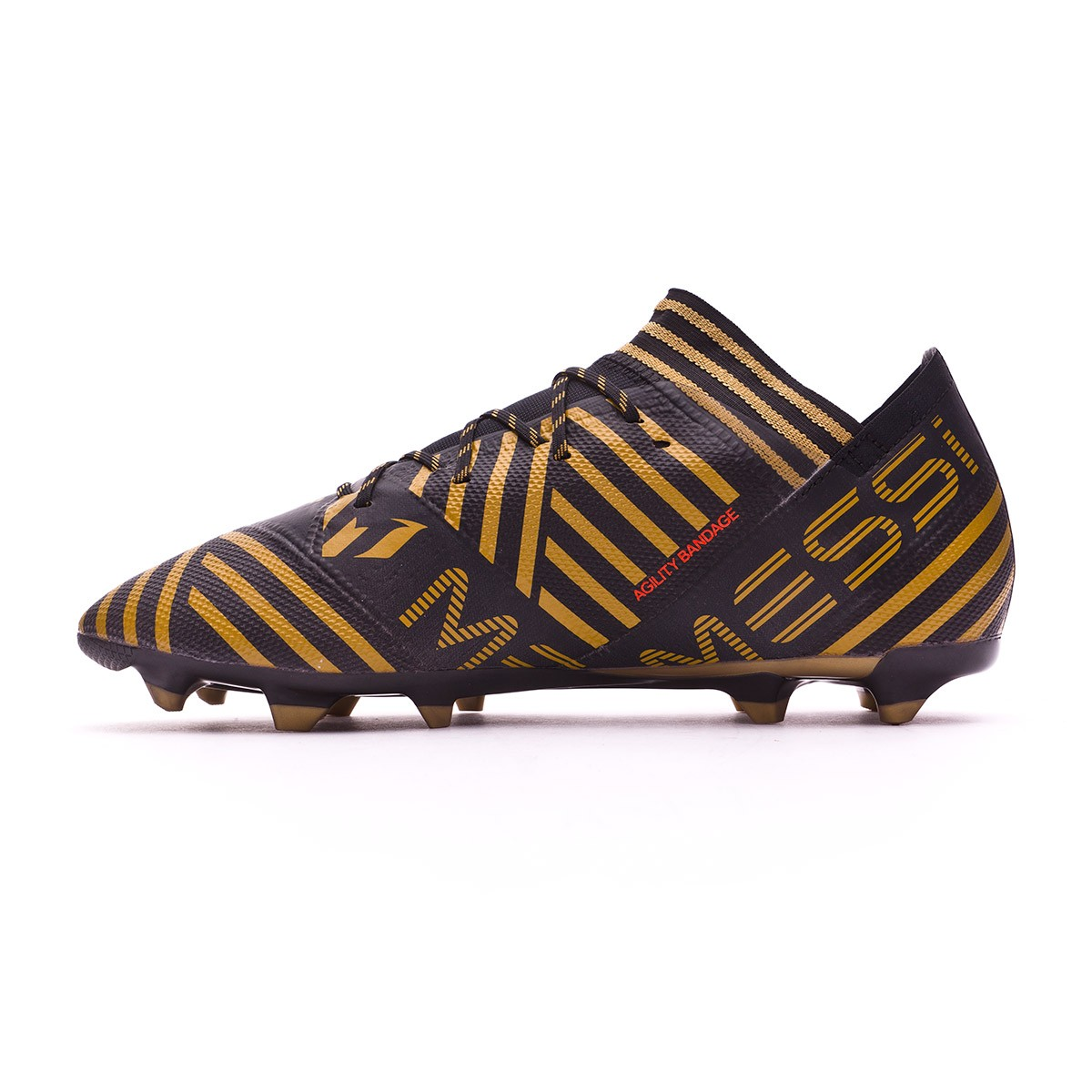 601c9654a Football Boots adidas Nemeziz Messi 17.2 FG Core black-Solar red-Tactile  gold metallic - Football store Fútbol Emotion