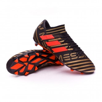 Bota  adidas Nemeziz Messi 17.3 FG Core black-Solar red-Tactile gold metallic