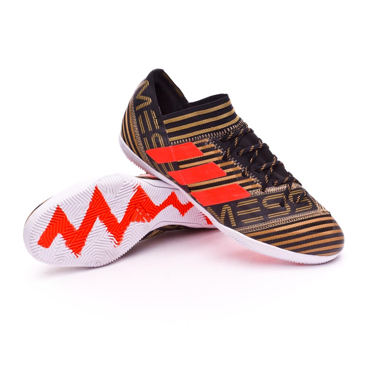 new arrival 38fa2 53a0d adidas Nemeziz Messi Tango 17.3 IN Futsal Boot. Core black-Solar red-Tactile  ...