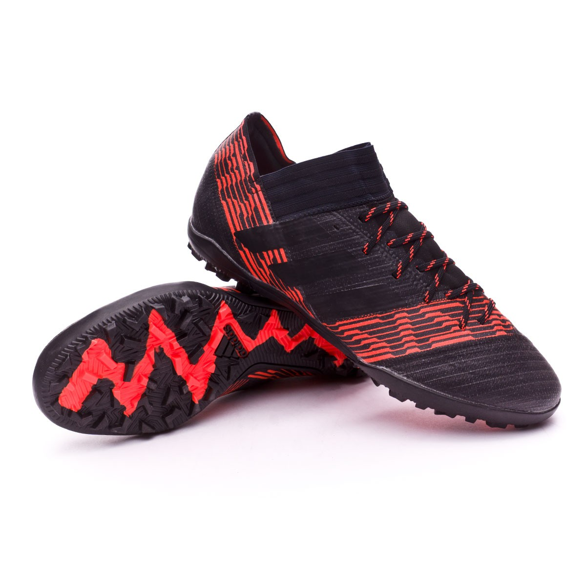 on sale f3fe8 defa0 adidas Nemeziz Tango 17.3 Turf Football Boot. Core black-Solar red ...