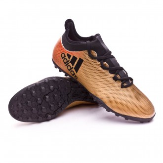 Zapatilla  adidas X Tango 17.3 Turf Tactile gold metallic-Core black-Solar red